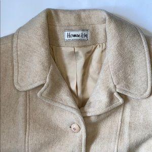Vintage Herman Kay cream oatmeal blend pea coat